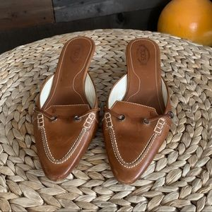 Tod's vintage leather mules